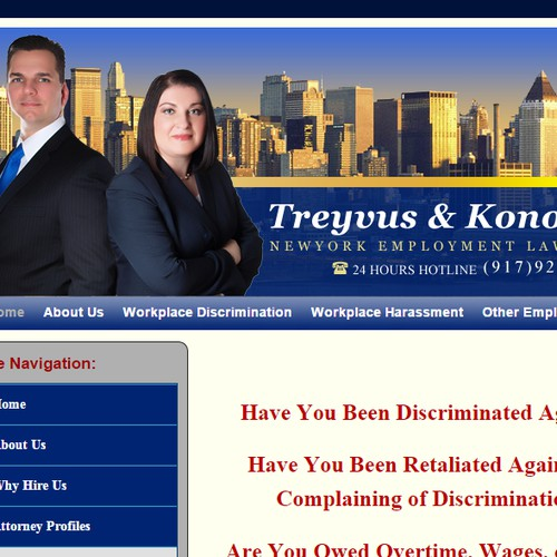 Website Header Design for Lawyer