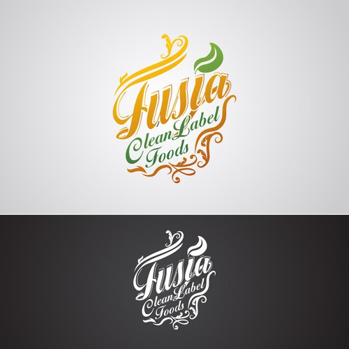 classical but fresh logo for Fusia