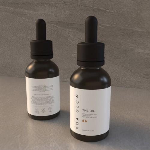 Aesthetic minimalist cosmetic packaging label design