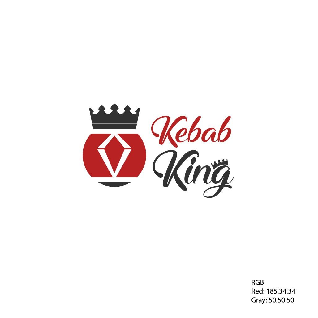 Design 2 letters 'K' into a logo of Kebab King restaurant
