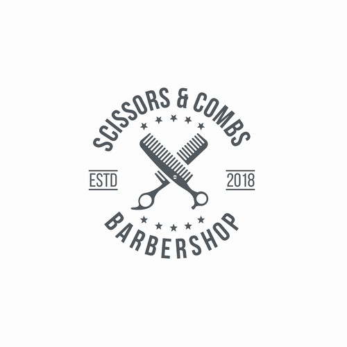 Dual meaning logo of Scissors and Comb