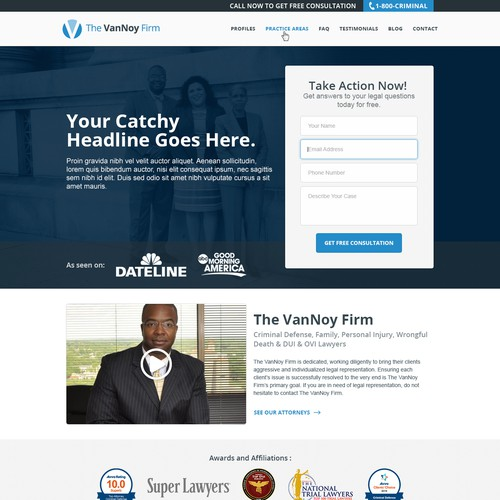 LawFirm Landing page