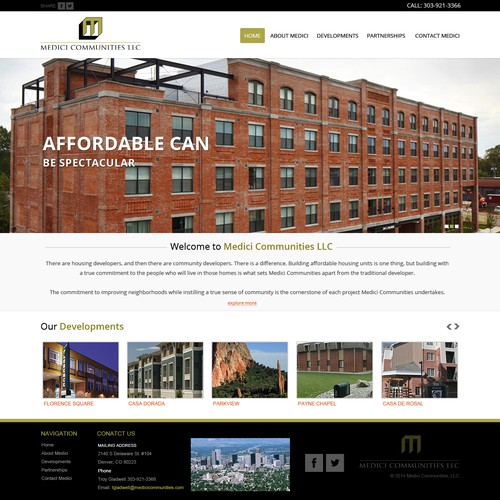 Homepage Redesign for Award Winning Housing Developer