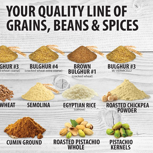 Grain and spices flyer