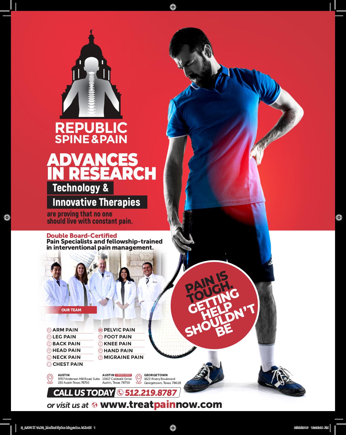 Medical Spine Magazine Ad