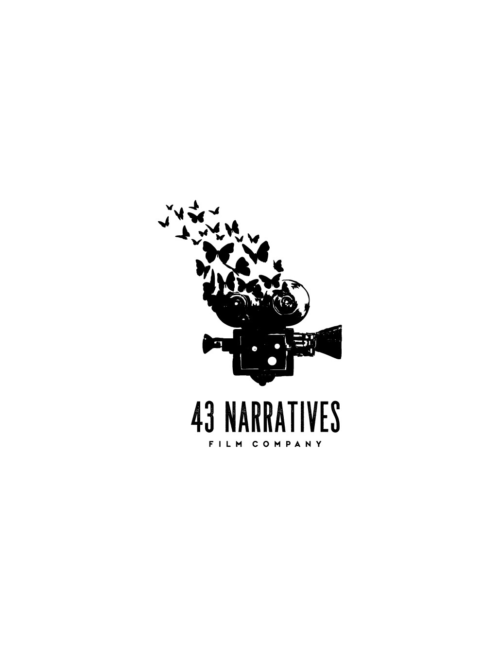 Design a quirky logo for our film company 43Narratives