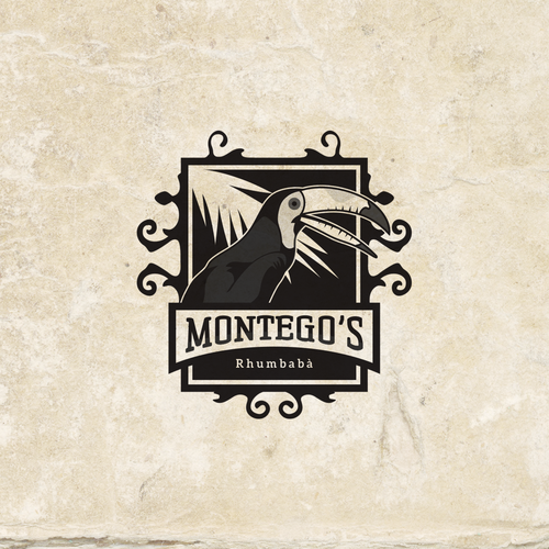 Concept logo for Montego's Rhumbabà