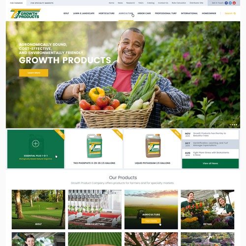 Growth Products Web Site