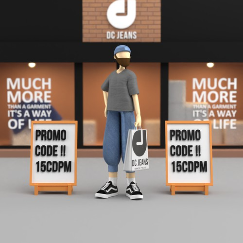 DC Jeans Promotional Character