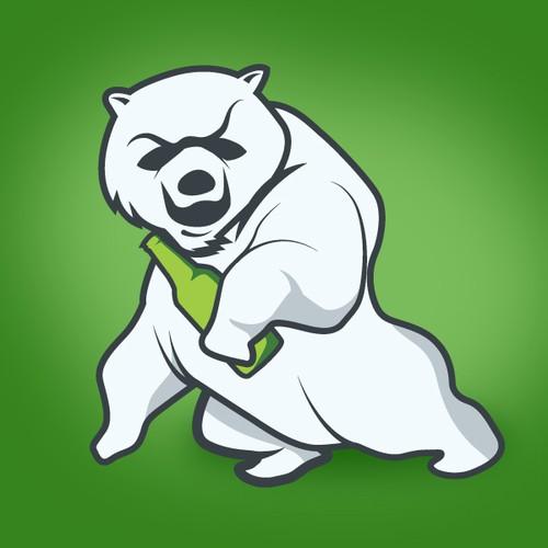Fun mascot for liquor store.