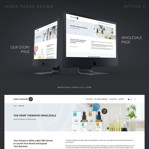 Inner pages design for CBD oil company