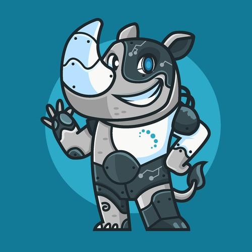 Rhyno Cyborg Mascot