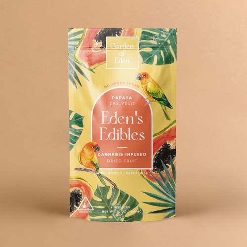 Dried mango packaging design
