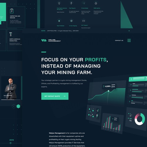 Crypto Mining Management Landing Page