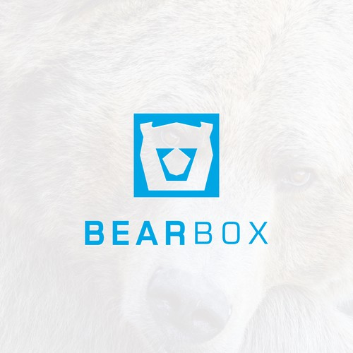 Clean minimalist logo design for BearBox