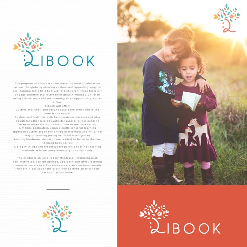Logo and website concept for Libook