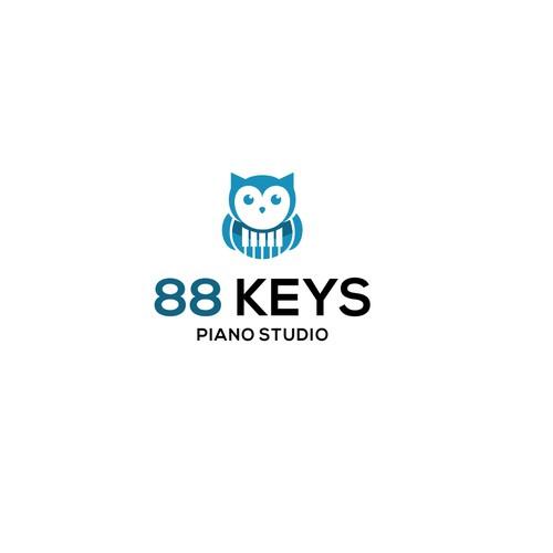Modern, feminine 88 Keys Piano Studio needs a beautiful logo.