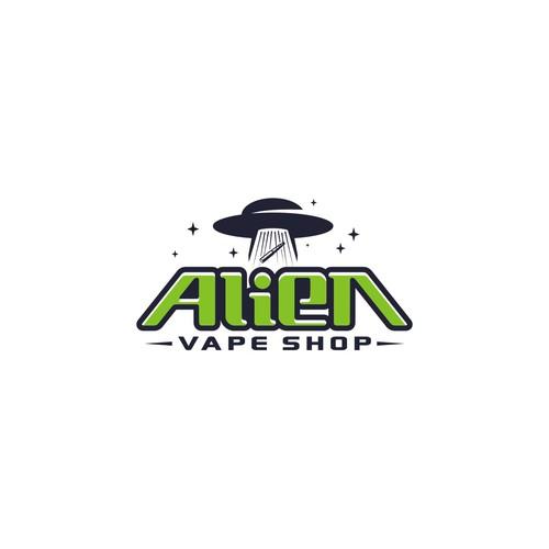 clean logo concept for vape shop