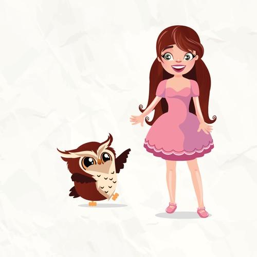 Girl and pet owl