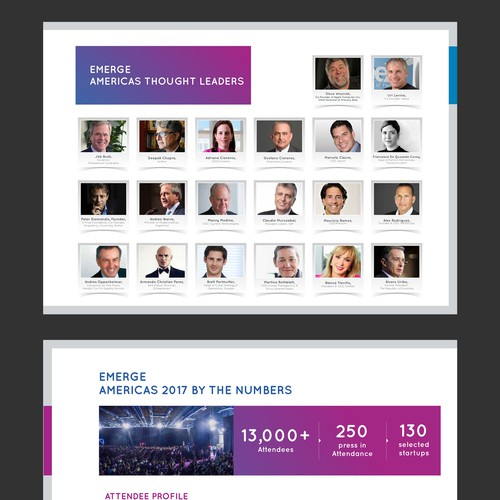 Design an enticing brochure for Miami's tech scene