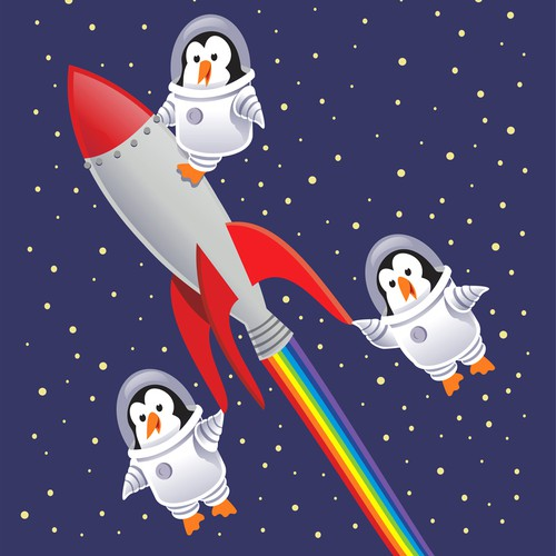 Pinguine in the space