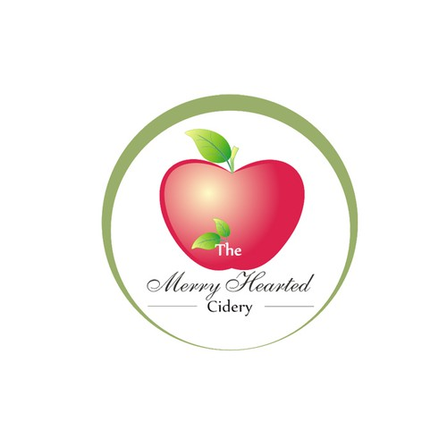 Captivate a cozy welcoming appeal with a rustic modern logo for the Merry-Hearted Cidery.