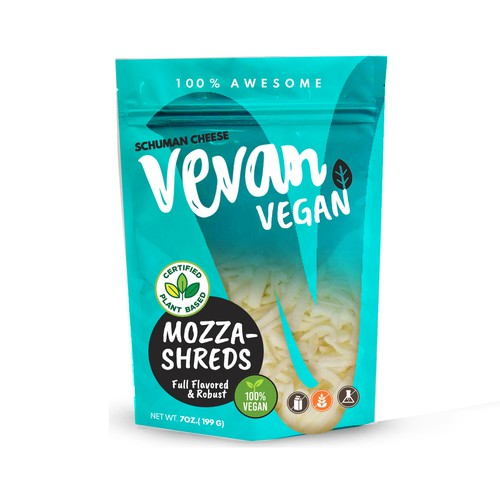 vegan cheese package desin