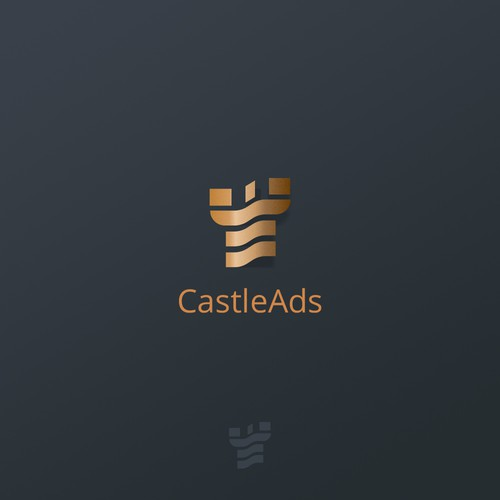 Elegant logo proposal for marketing business.