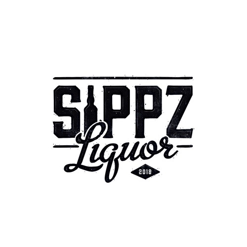 Logo design for Sippz Liquor Store