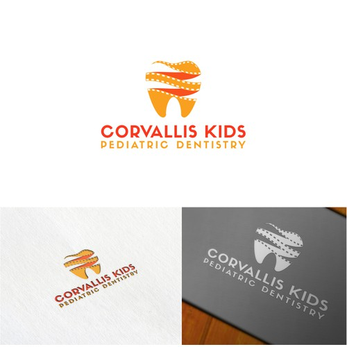 Logo for a Pediatric dental office. (The office has a movie theatertheme.)