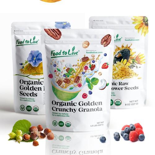 Cruncy granola packaging design