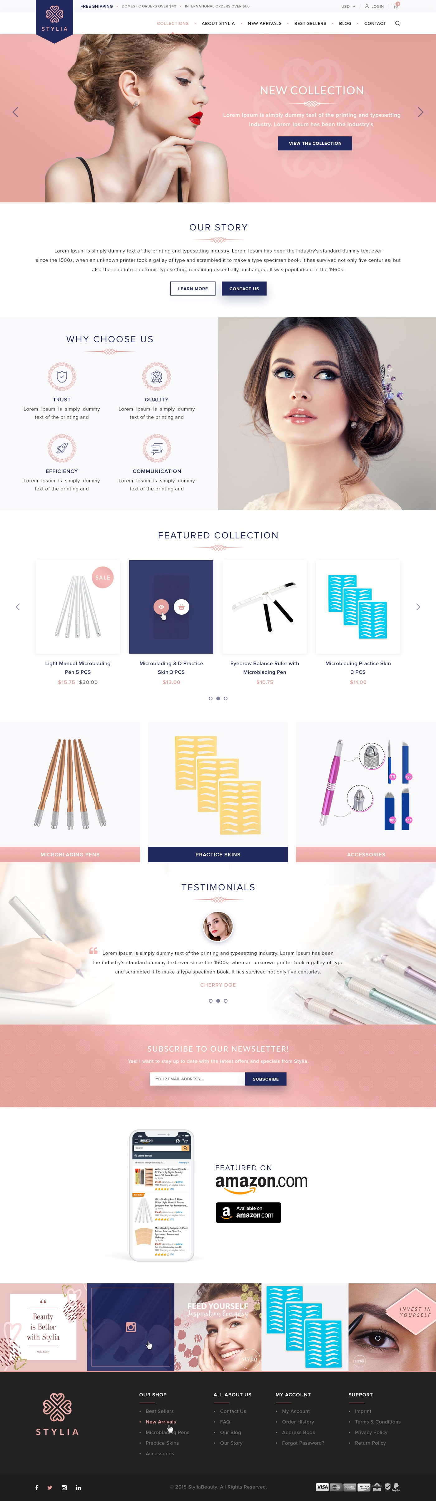 Shopify Website for Stylia Beauty