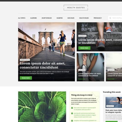 Health Quotes - Ui Design