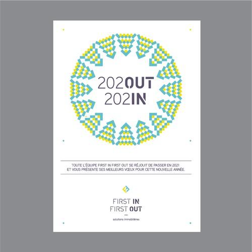 Carte de voeux pour les fêtes de fin d'année.