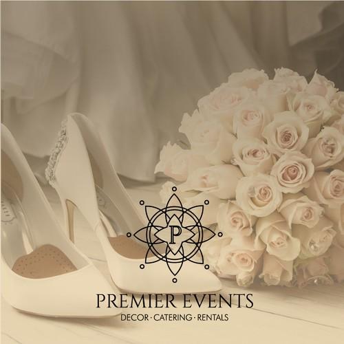 Premier Events Logo Design
