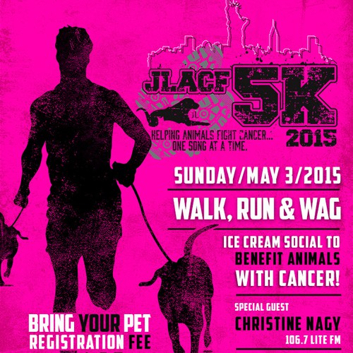 5K Event Poster for Animal Cancer Non-Profit Organization