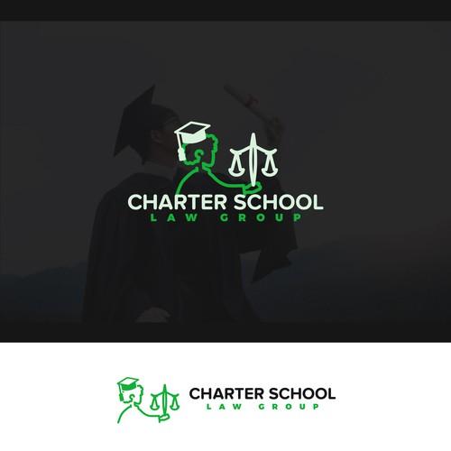 Law-school concept logo.