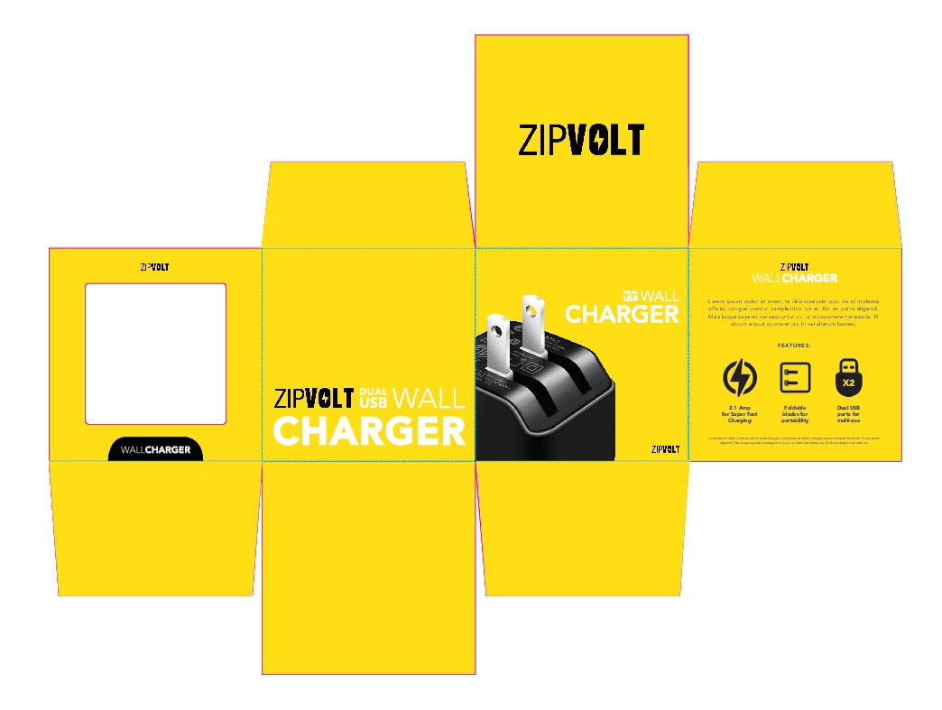 Design a Cool, Eye-catching Package for a Wall Charger
