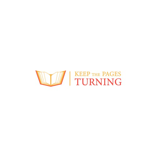 logo for Keep the Pages Turning early literacy fundraising campaign