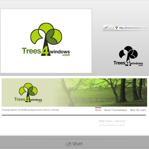 Trees4windows.com Website Banner Required