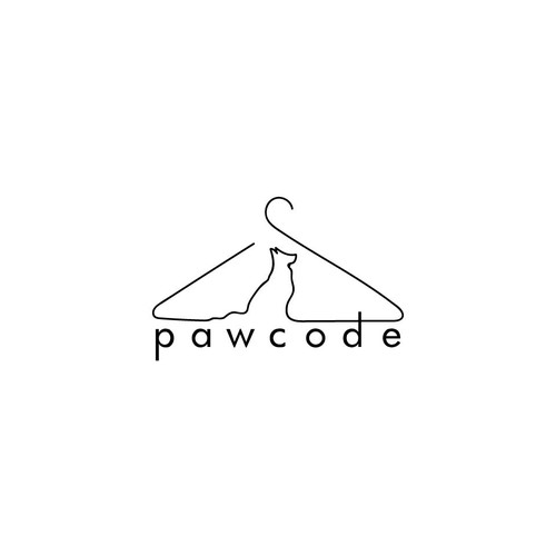 Clean minimal design for a dog clothing brand