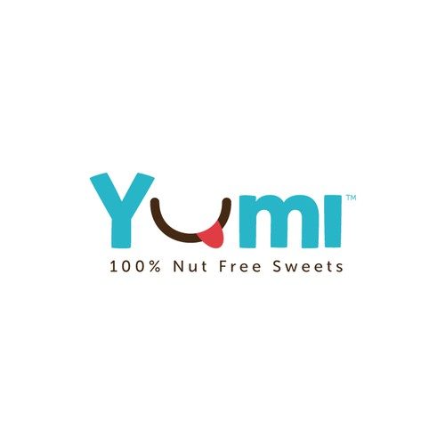Create a fun, colorful kid-friendly design for Yumi Sweets, 100% Peanut & Tree Nut Free