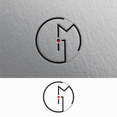Monogram style logo for and artist
