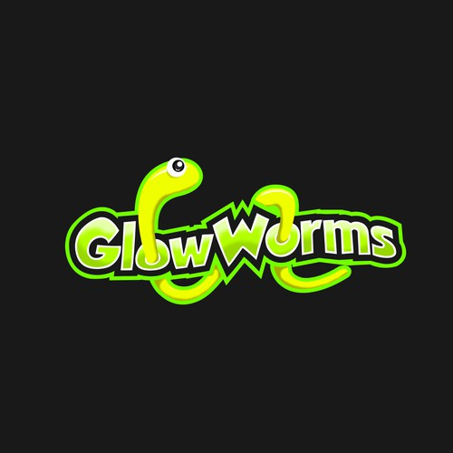 Bold Playful Logo concept fo Glow Worms