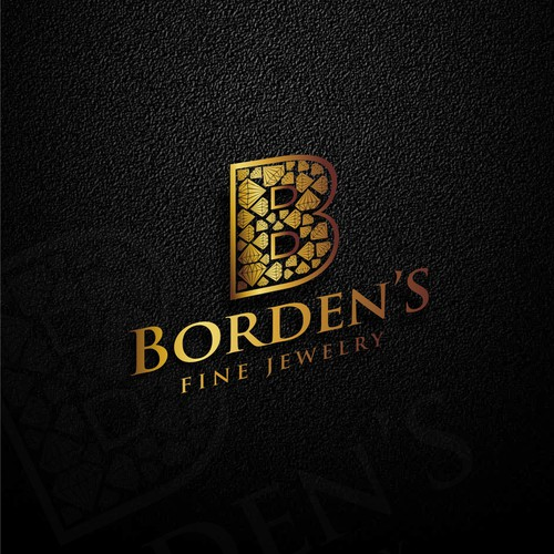 Bold logo in gold