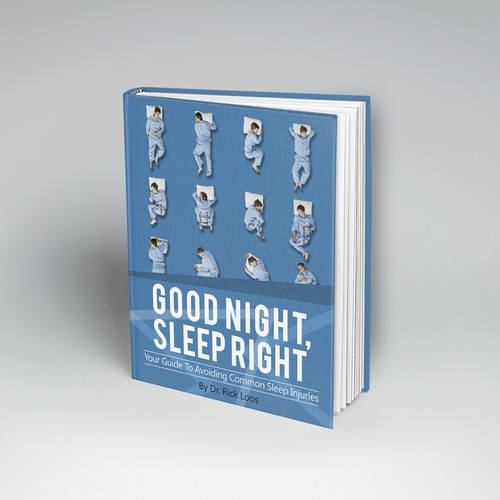 """Create a captivating book cover for the title """"Good Night, Sleep Right""""."""