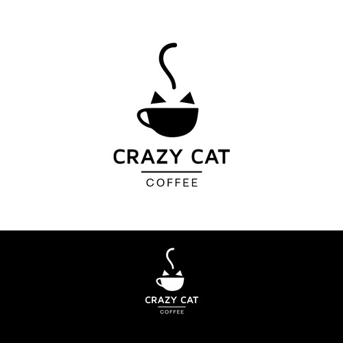 "Design a bright, inspired logo for new company ""Crazy Cat Coffee"""