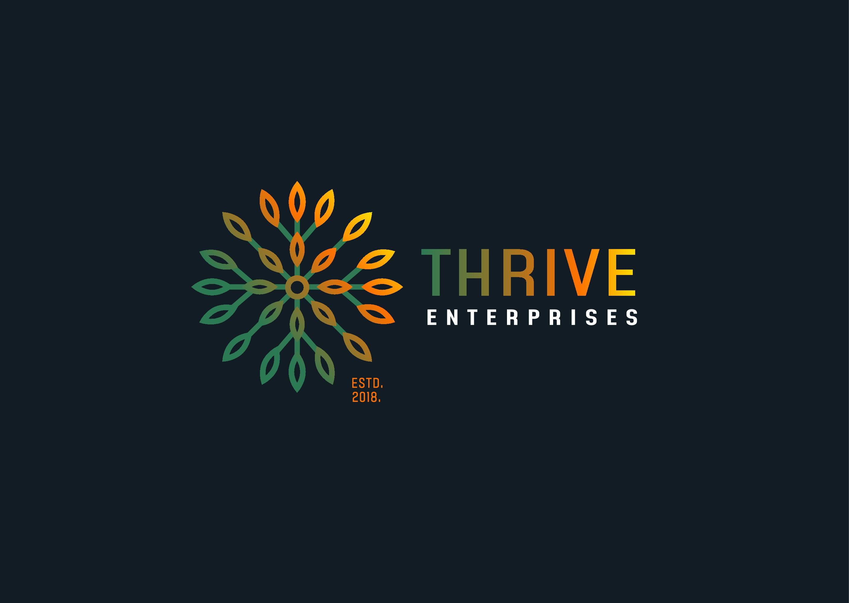Thrive Enterprises is looking for an upscale logo for a cannabis cultivation and processing startup