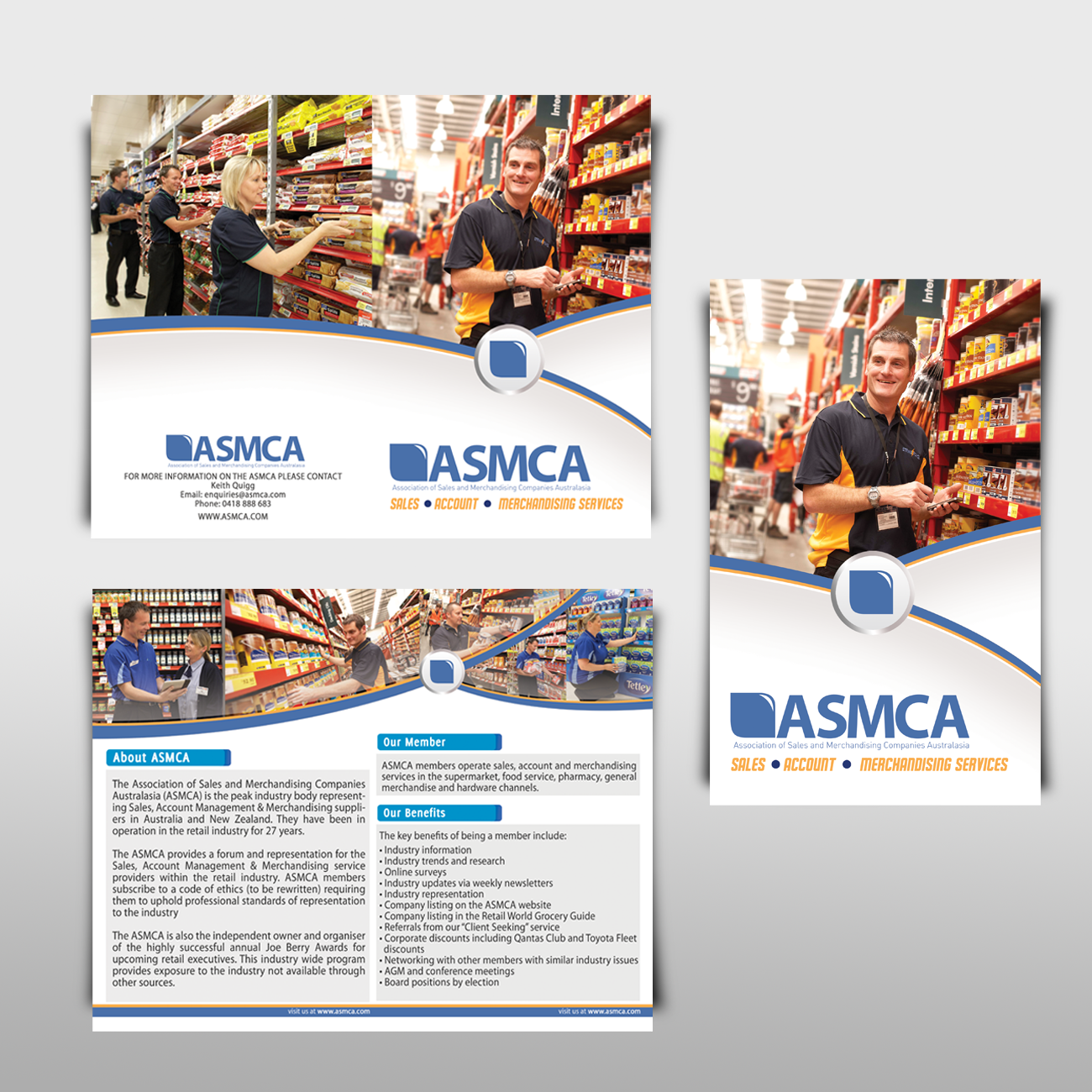 ASMCA (The Association of Sales and Merchandising Companies Australasia) needs a new brochure design