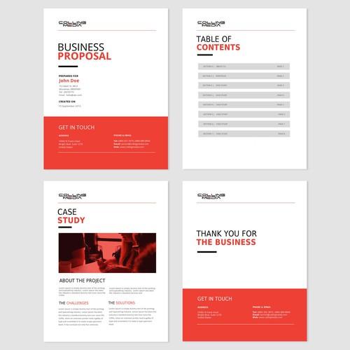 Business proposal design concept